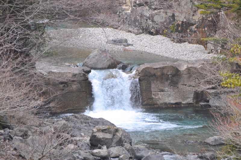 付知峡本谷も春の兆しが