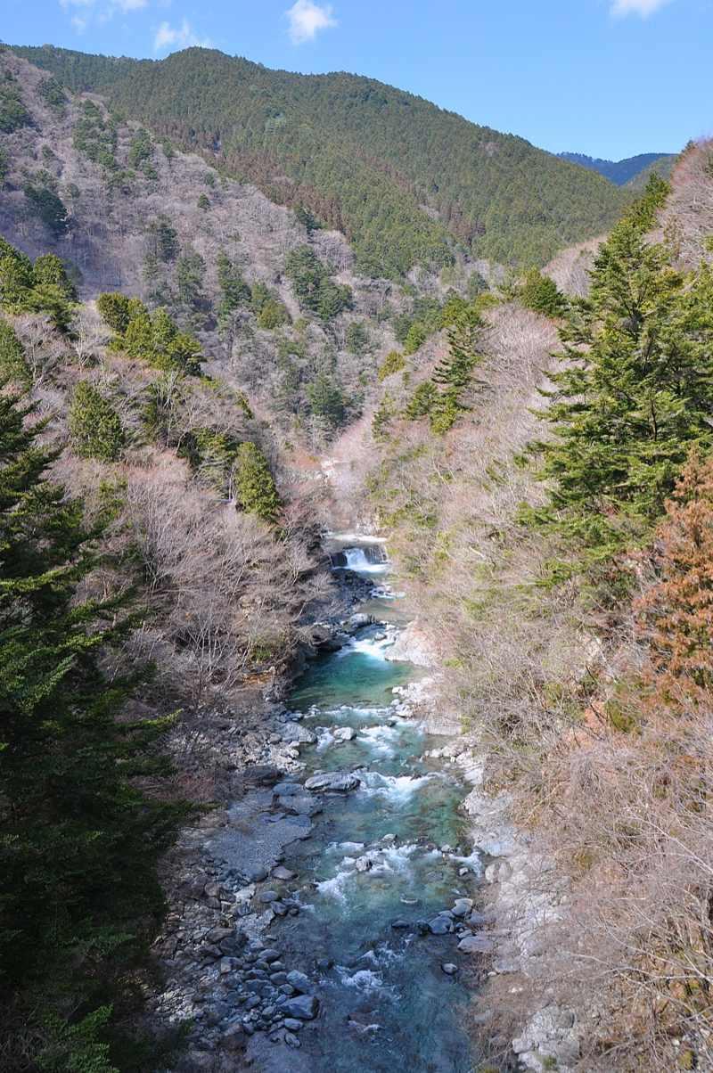 何となく春めいて来た、付知峡本谷。