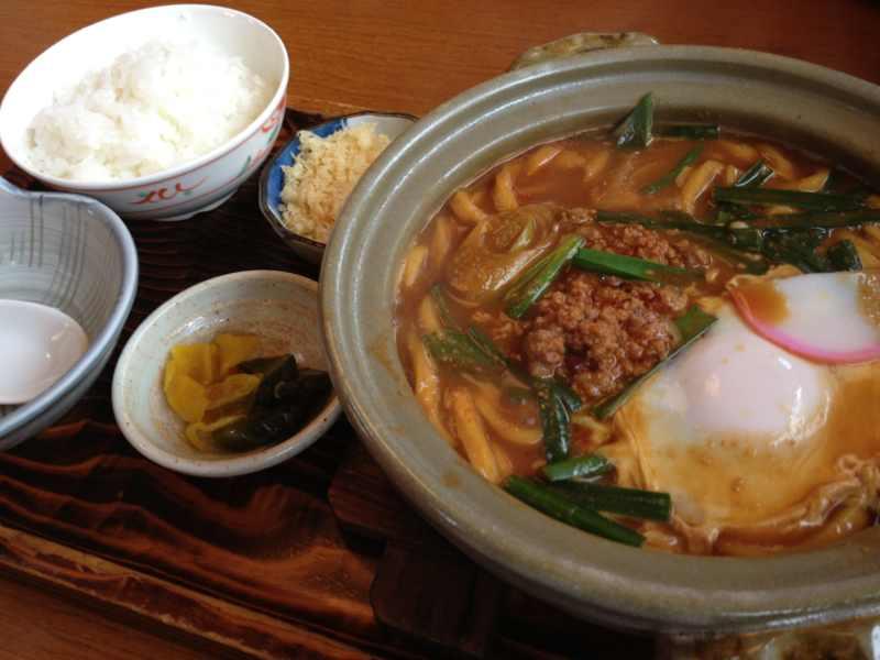 美味しいお昼ごはん ピリ辛台湾味噌煮込み かま濃
