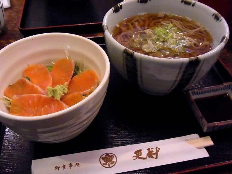 美味しいお昼ごはん 神坂紅鱒丼(みさかべにます丼)
