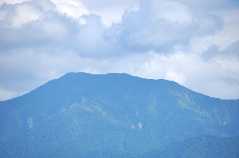 苗木藩 的場跡からの恵那山