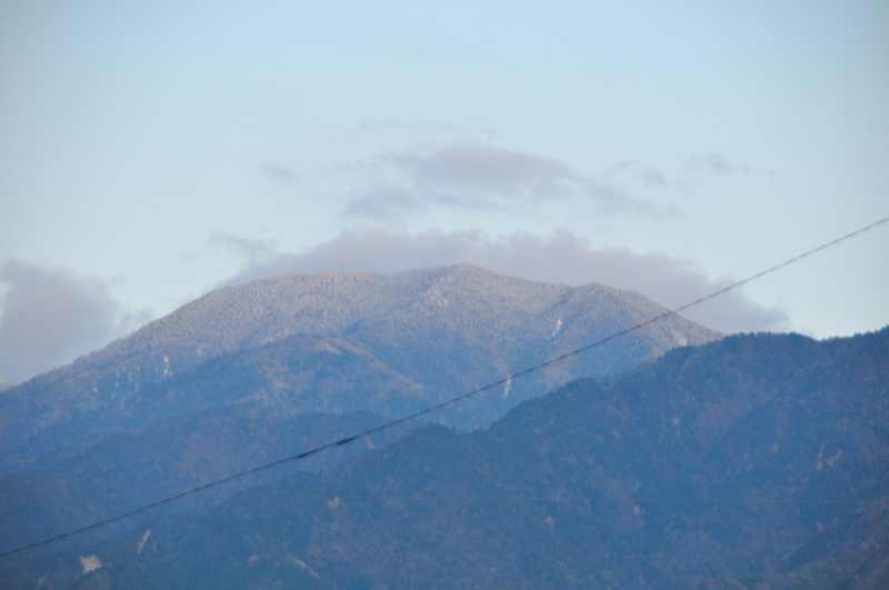4/27 恵那山に雪が降った。
