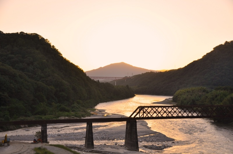玉蔵橋からの夕景