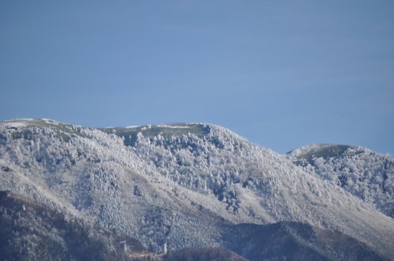 今日の恵那山と富士見台高原
