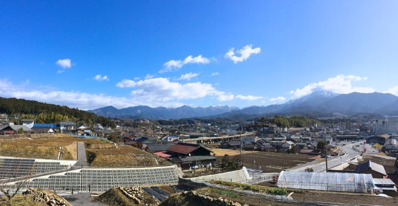 今日の恵那山、中津川市北野 大泉寺付近から