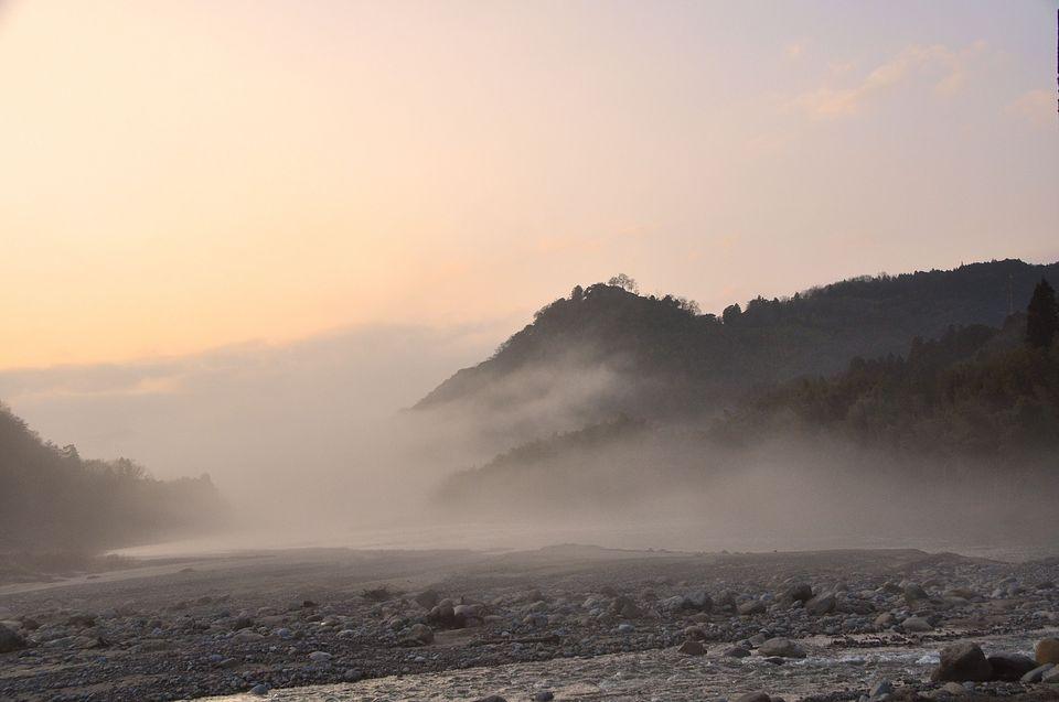 川霧に煙る北恵那鉄橋-4