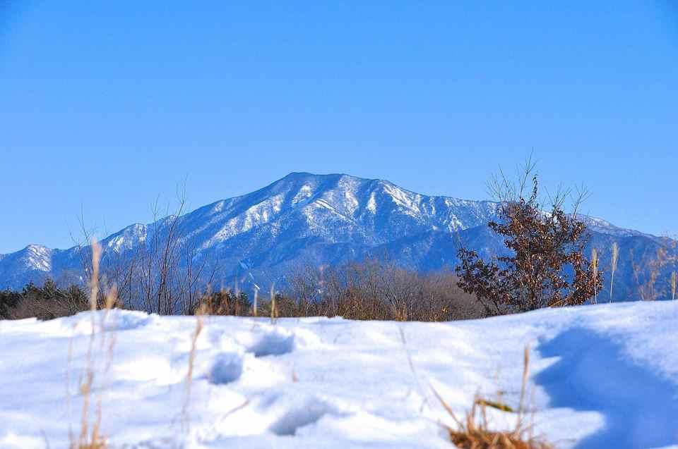 2/11 青空と雪と恵那山