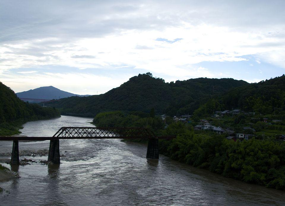 午後の苗木城跡、やっと落ち着いた空模様になって来た。