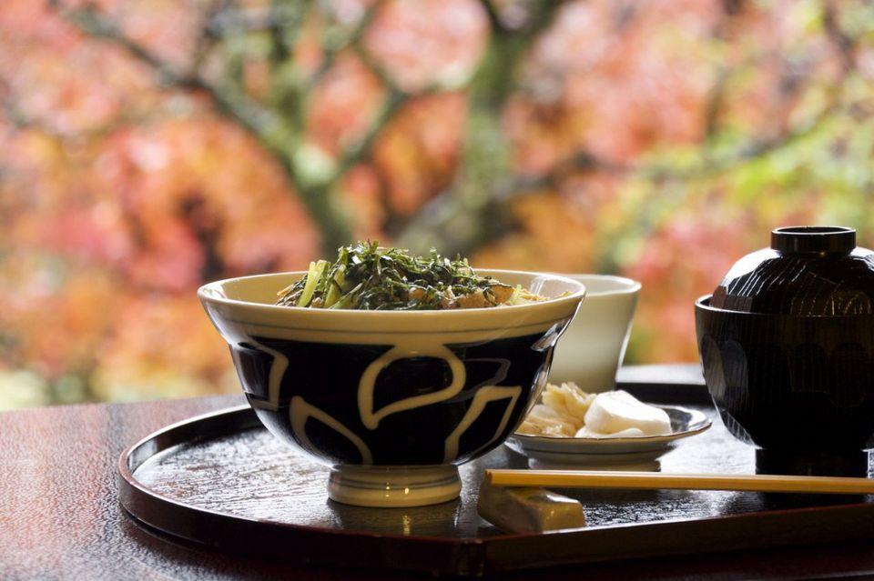 美味しいお昼ごはん  紅葉を食す、長多喜 11/26