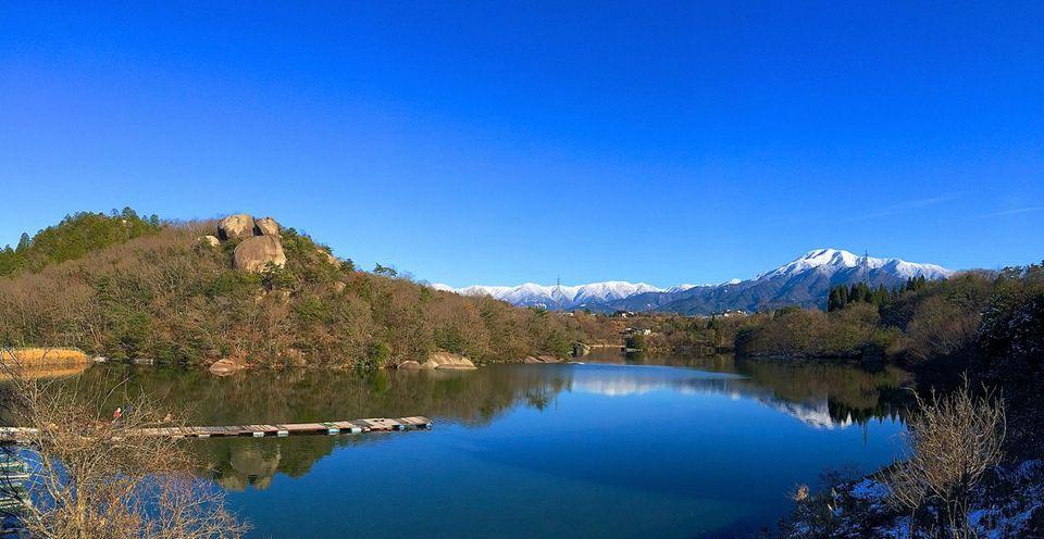 ひょうたん池からの Iphone panorama