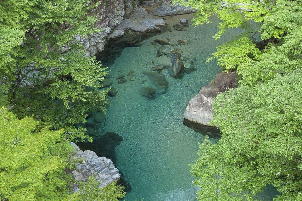 みどりの水と森の国、付知峡攻め橋