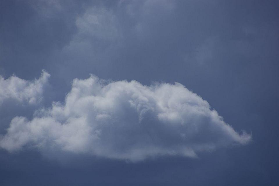 台風一過の西の空