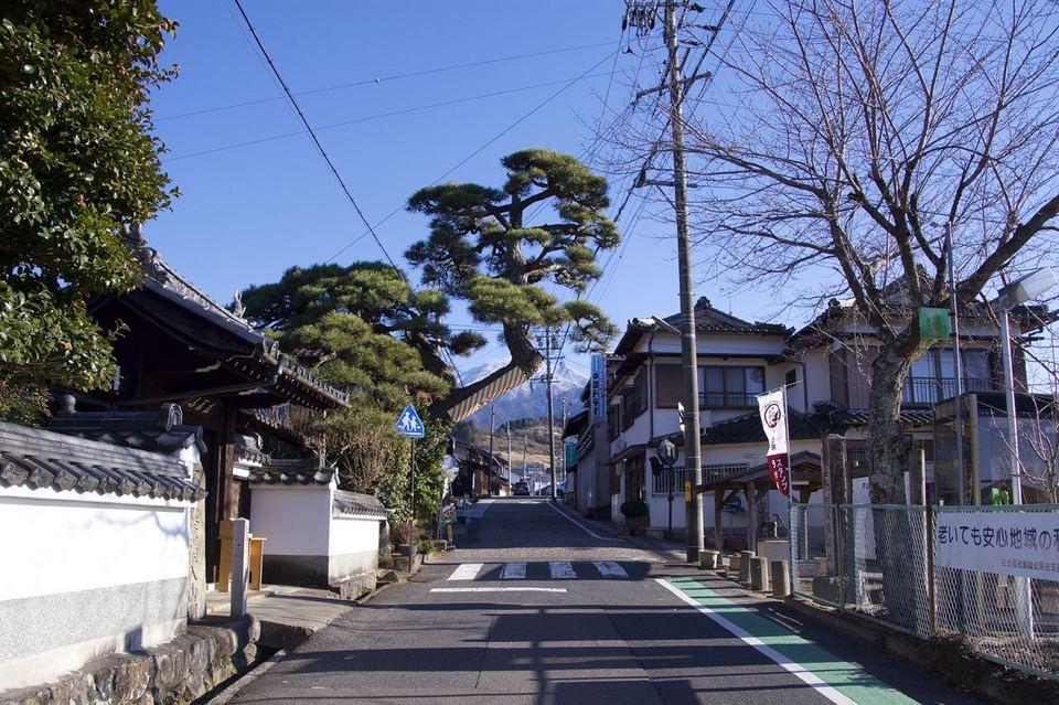 中山道南木曽路ぶらり旅、落合宿「門冠り松」