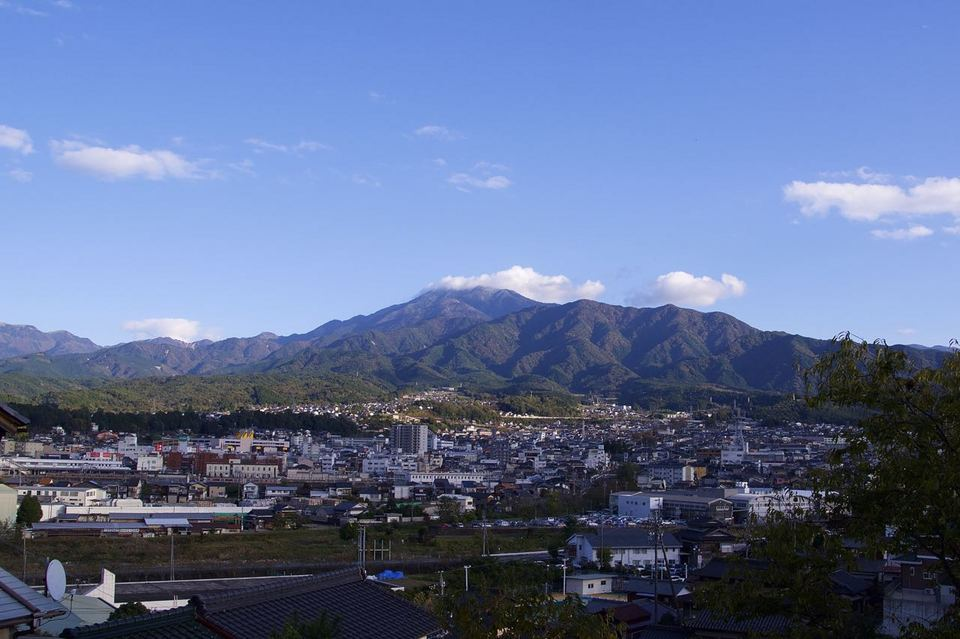恵那山に雪が降った。 border=