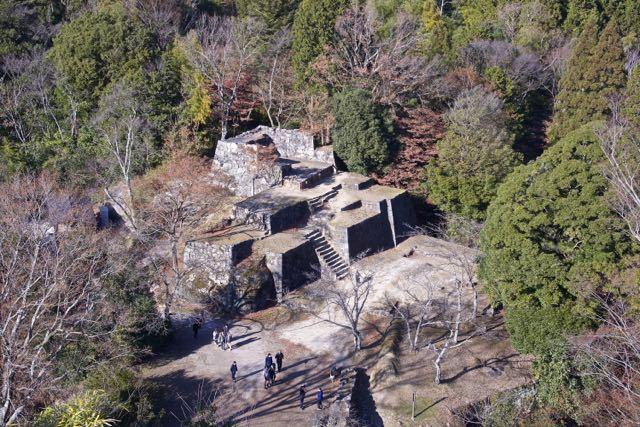 マチュピチュを彷彿させる、苗木城跡の大矢倉。