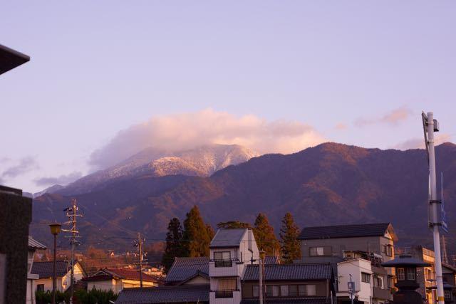 夕焼け恵那山。