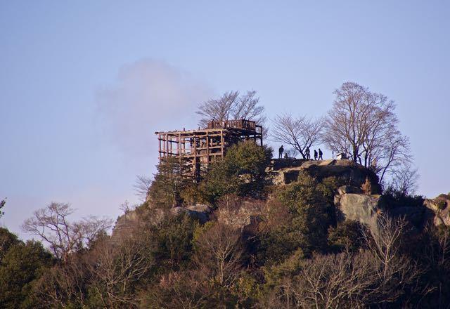 お正月の苗木城跡、続日本100名城。 border=