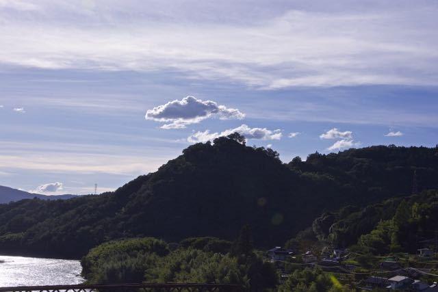 黄昏の北恵那鉄橋。