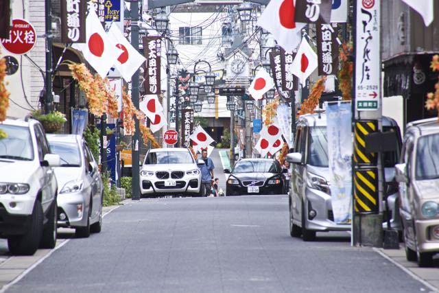 中津川日の丸商店街 9/23 秋分の日、 西太田町通り。
