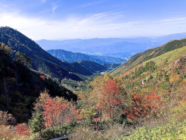 富士見台高原神坂峠の紅葉、水跨ぎ付近標高1500m程。 border=