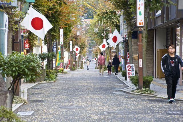 中津川日の丸商店街 11月3日は 文化の日