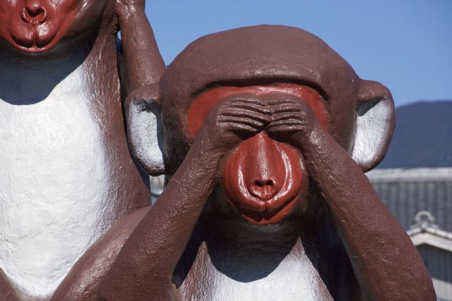 ピカピカの大三猿。