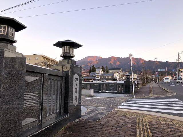 「夕焼け色の恵那山 」 border=