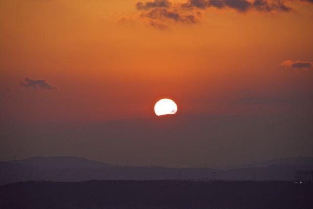 中山道落合新茶屋夕陽の丘