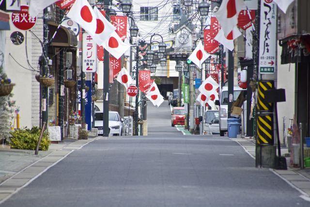 中津川日の丸商店街 2/11 建国記念の日 border=