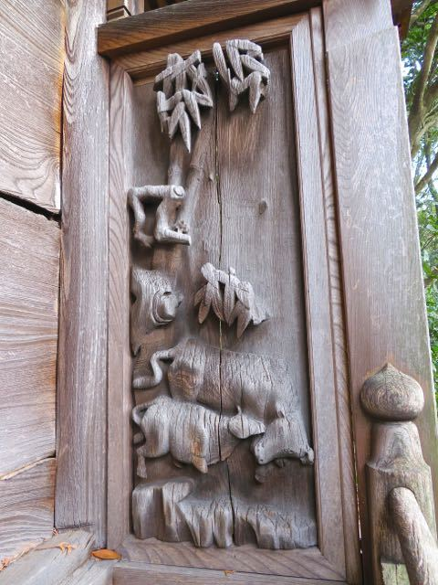天神様の見事な彫刻、約360年前にタイムスリップ。