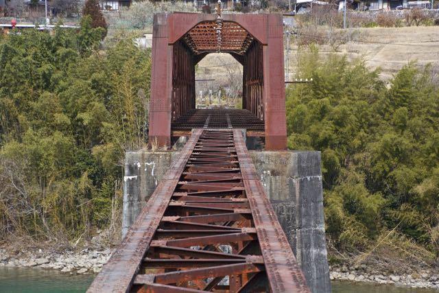 久しぶりにここへ来ました、北恵那鉄橋。