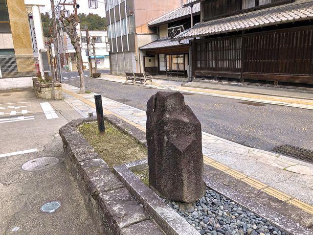 日本画の巨匠、中津川市名誉市民 前田青邨画伯 生誕地の碑