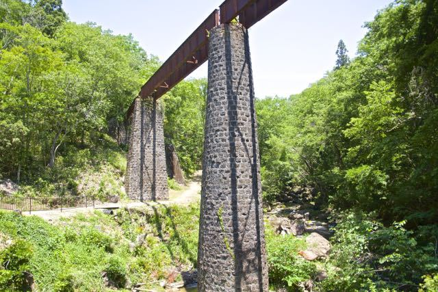 思い出の北恵那鉄道、上地鉄橋。 border=