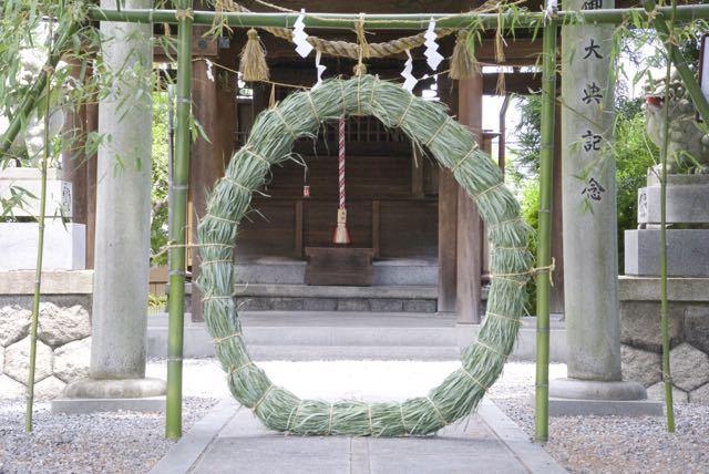 夏越しの大祓、茅の輪くぐり始まる。 東濃一社 中津川西宮神社