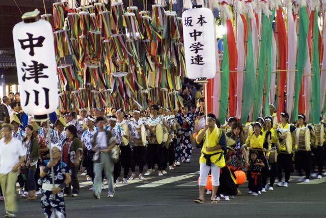 中津川夏祭りおいでん祭「風流おどり」 border=