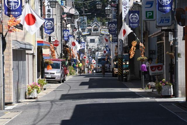 中津川日の丸商店街 9月16日 敬老の日 西太田町通り。 border=