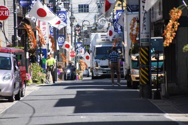 中津川日の丸商店街 9月16日 敬老の日 西太田町通り。