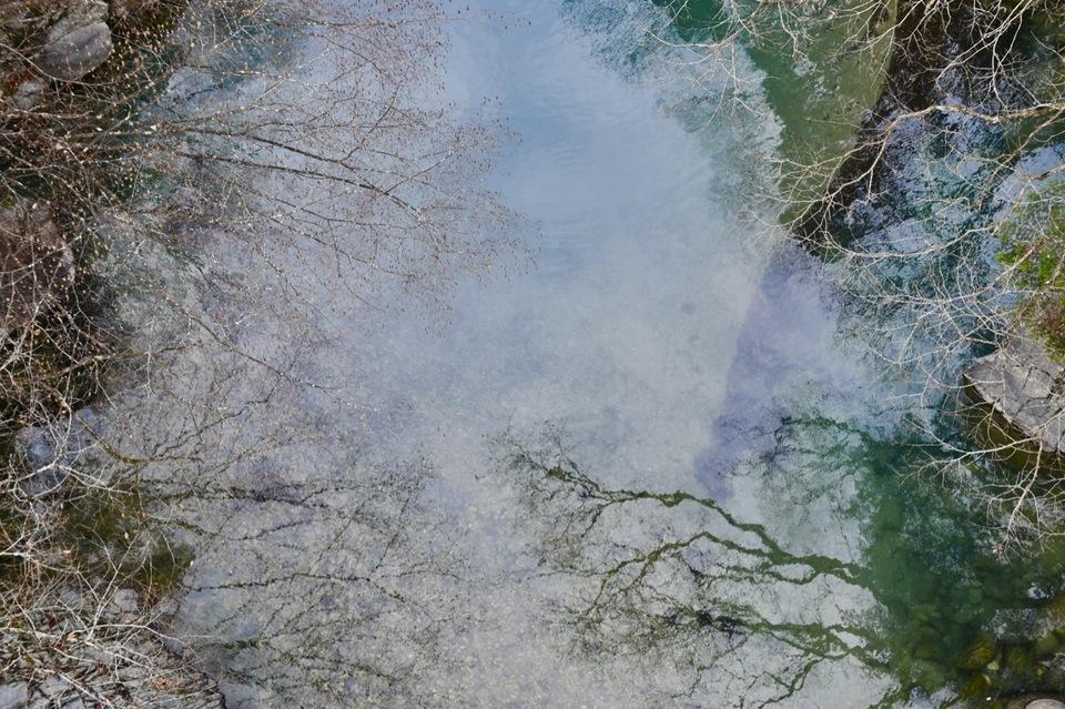 神秘的‼︎付知峡攻め橋の冬姿