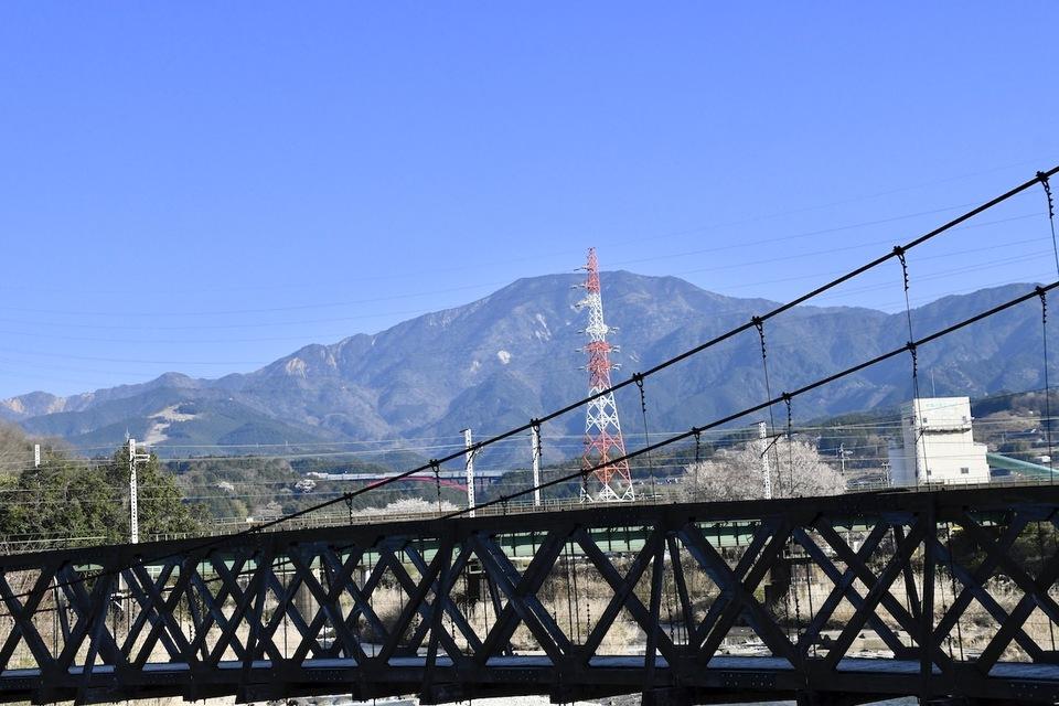 関電落合ダムから恵那山