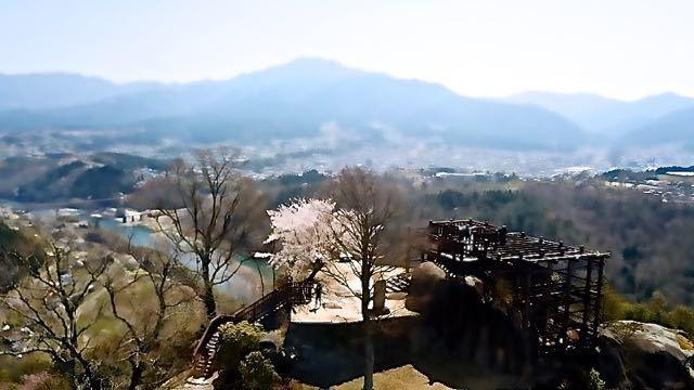 絶景山城日本一苗木城跡は、只今桜満開‼︎ border=