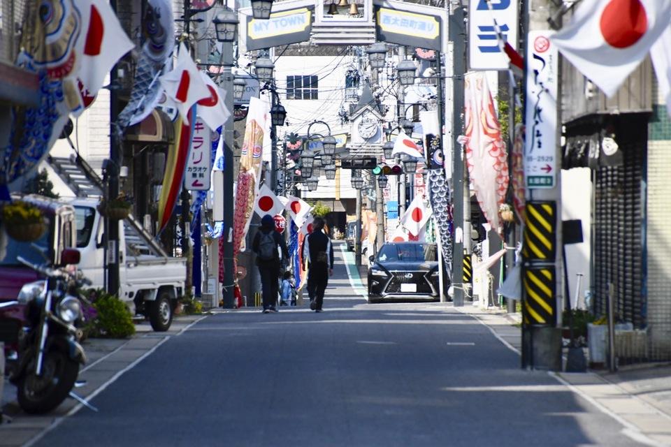 中津川日の丸商店街「昭和の日」