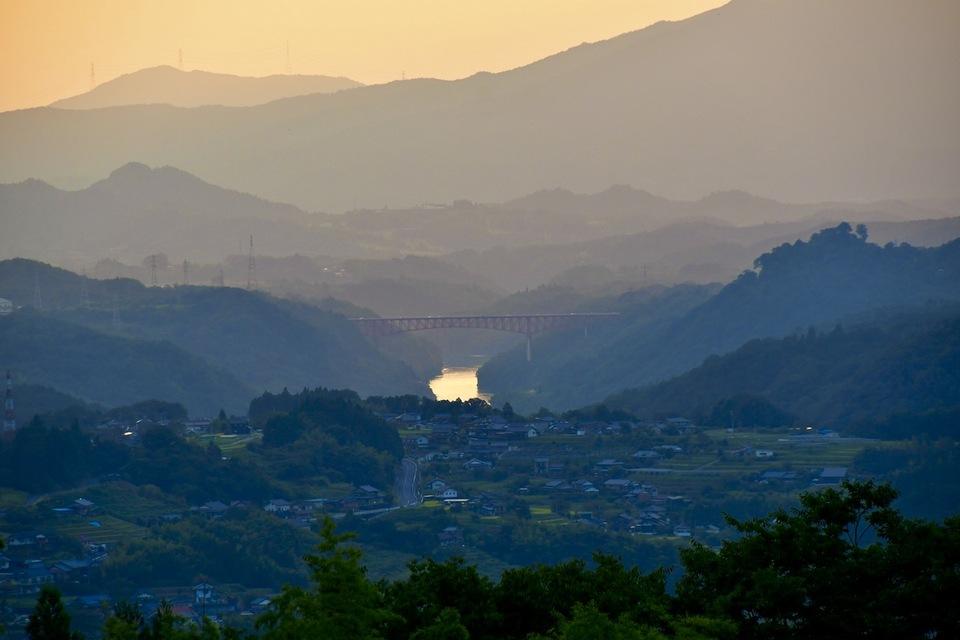 中山道落合新茶屋、初秋の風景。