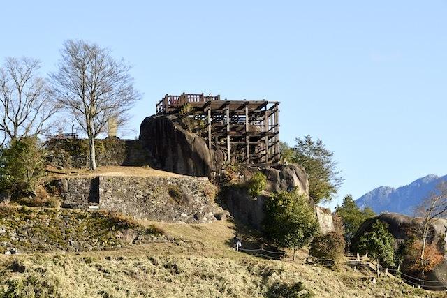 絶景山城日本一 苗木城全景。