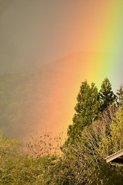 虹の根元、その虹は目の前に突然現れた。