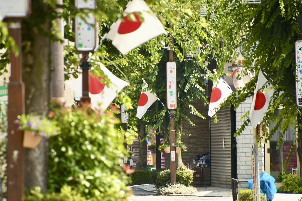 中津川日の丸商店街 今日は東京オリンピック開会式「スポーツの日」