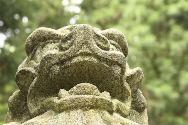 延喜式内社 恵那神社の狛犬、