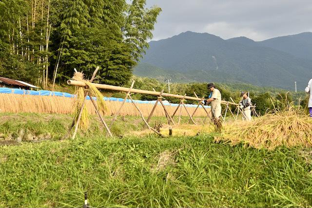恵那山麓の日本の伝統農業、