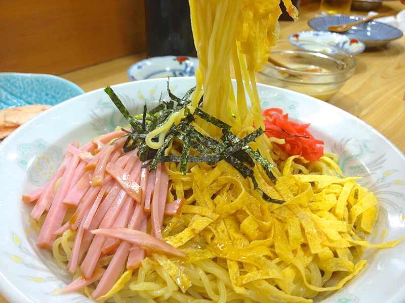 美味しいお昼ごはん 熱い日には「ときわの冷やし中華」始まりました。