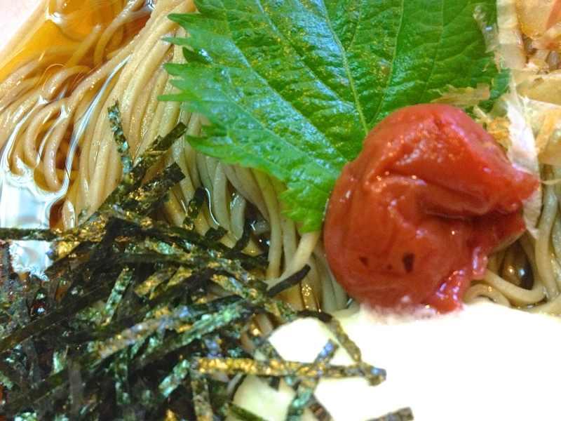 美味しいお昼ごはん 究極のネバネバ「梅とメカブのとろろ蕎麦」」