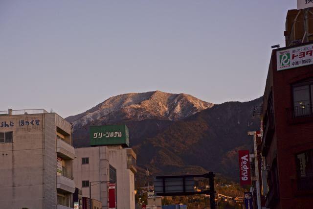 冬の夕焼けは一瞬!恵那山を紅く染める